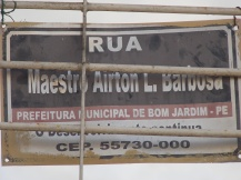 placa homenagem ao pai do Juliano