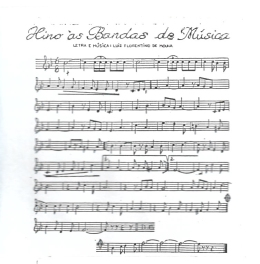 partitura hino das bandas