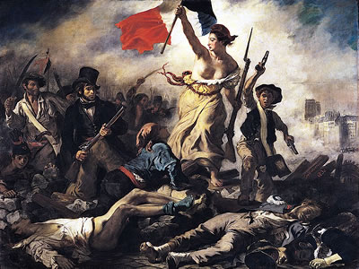 A Liberdade Guiando o Povo - por Eugène Delacroix