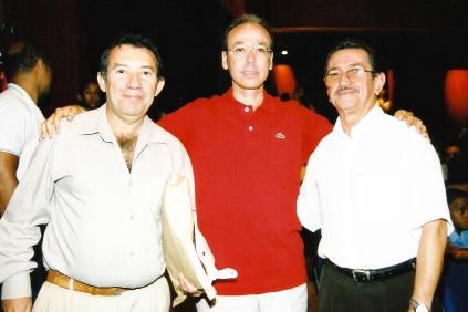 Campeonato de Bandas da Federação (Wilson, o prefeito Marcos e o maestro Edison Camilo)