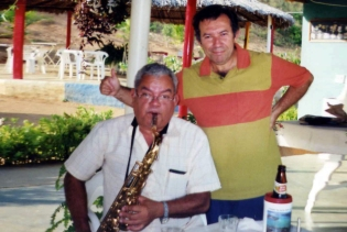Wilson e o maestro Petrúcio Ramos em Piranhas (AL)