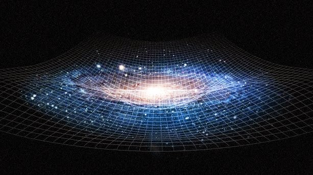 representacao-bidimensional-da-distorcao-causada-pela-massa-de-um-objeto-gravidade